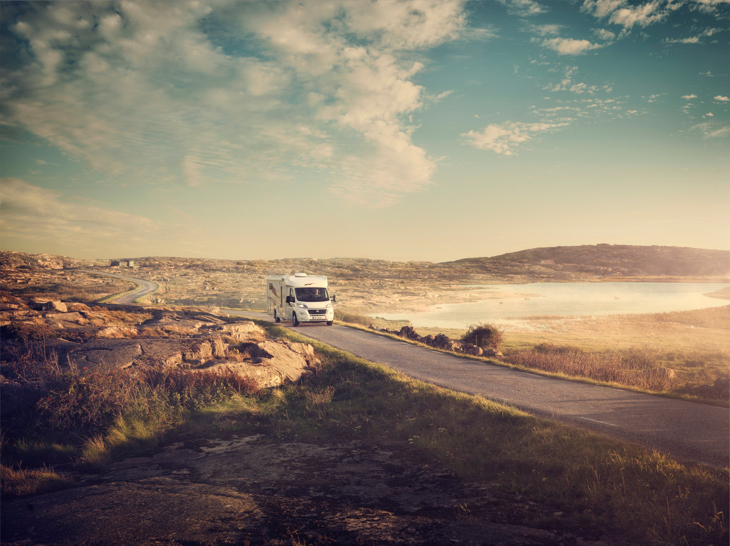 Dometic rv road waterV2, rv, truck, road, water, sea, seaside, outdoors, nature