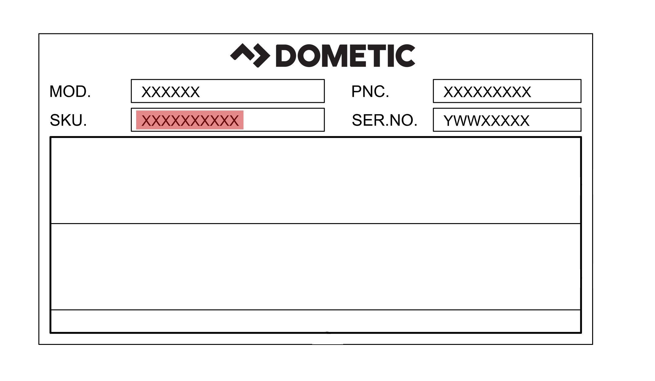 품번을 어디에서 찾을 수 있습니까 Dometic