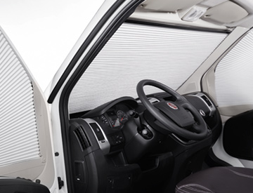 Dometic FP300 front darkening blind for Fiat Ducato
