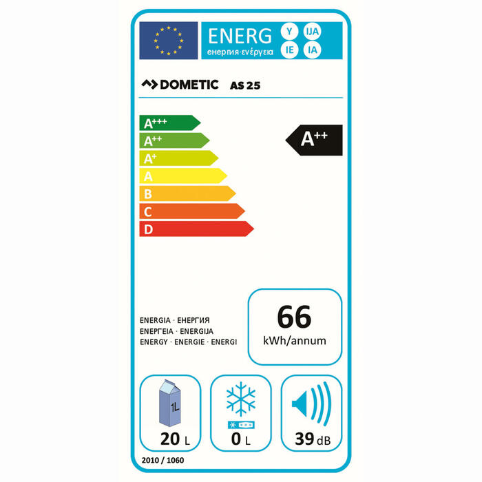 Dometic BordBar AS 25 Energielabel