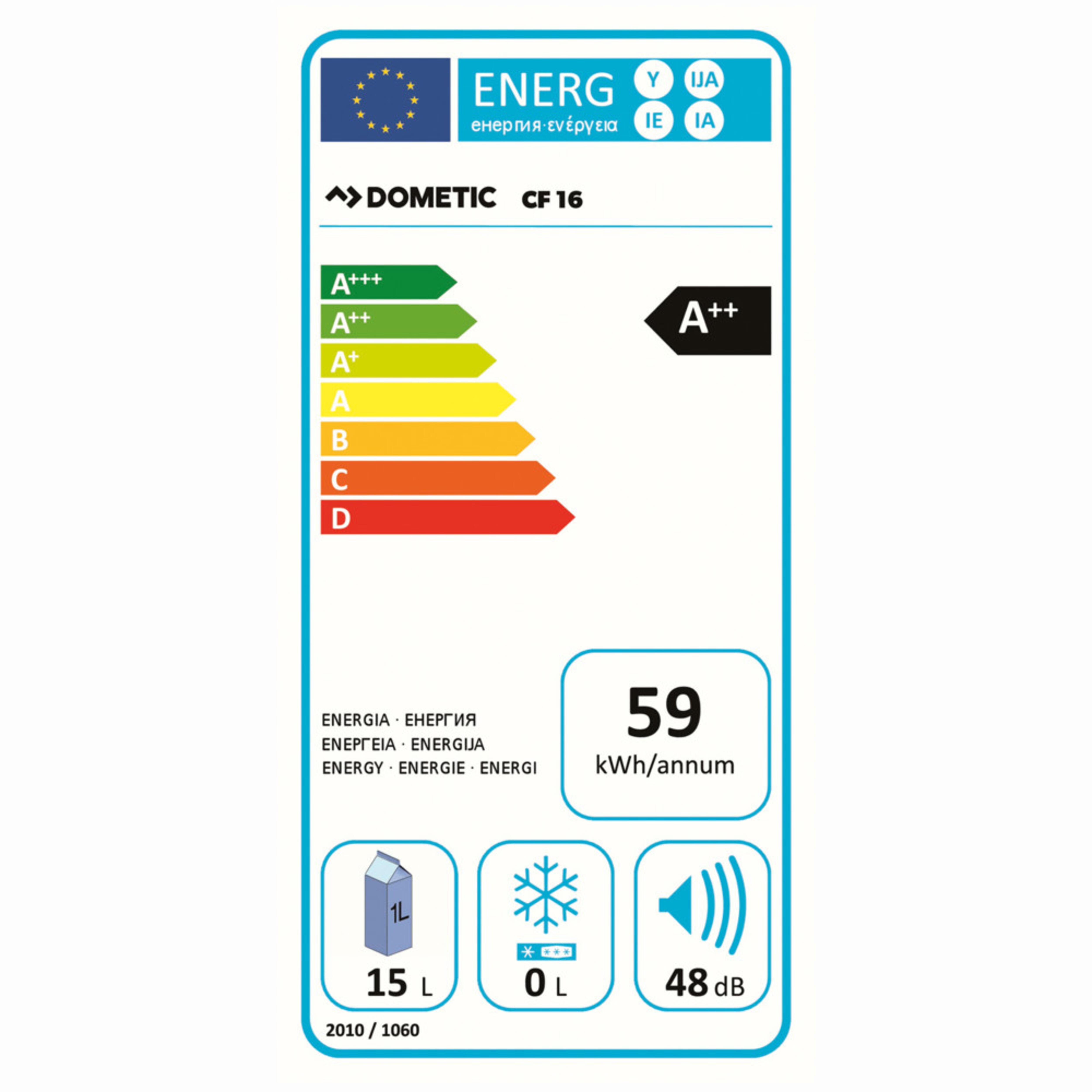 Dometic CoolFreeze CF 16 Energielabel