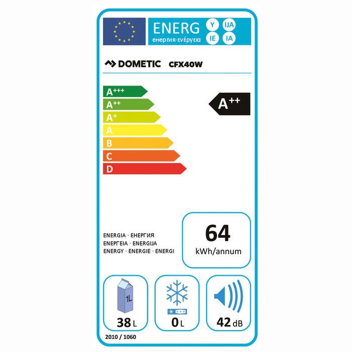 Dometic CoolFreeze CFX 40W Energielabel
