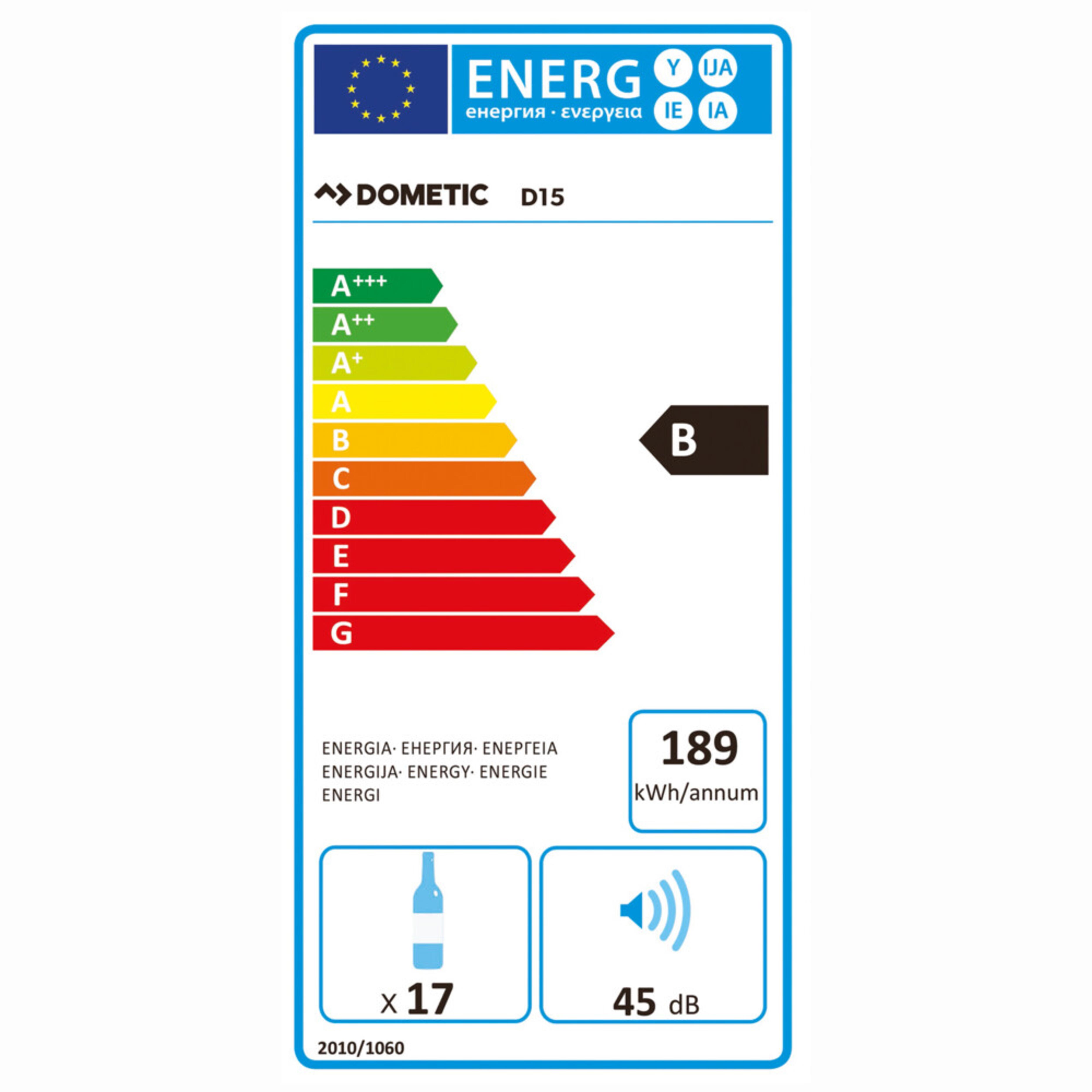 Dometic MaCave D15 Energielabel