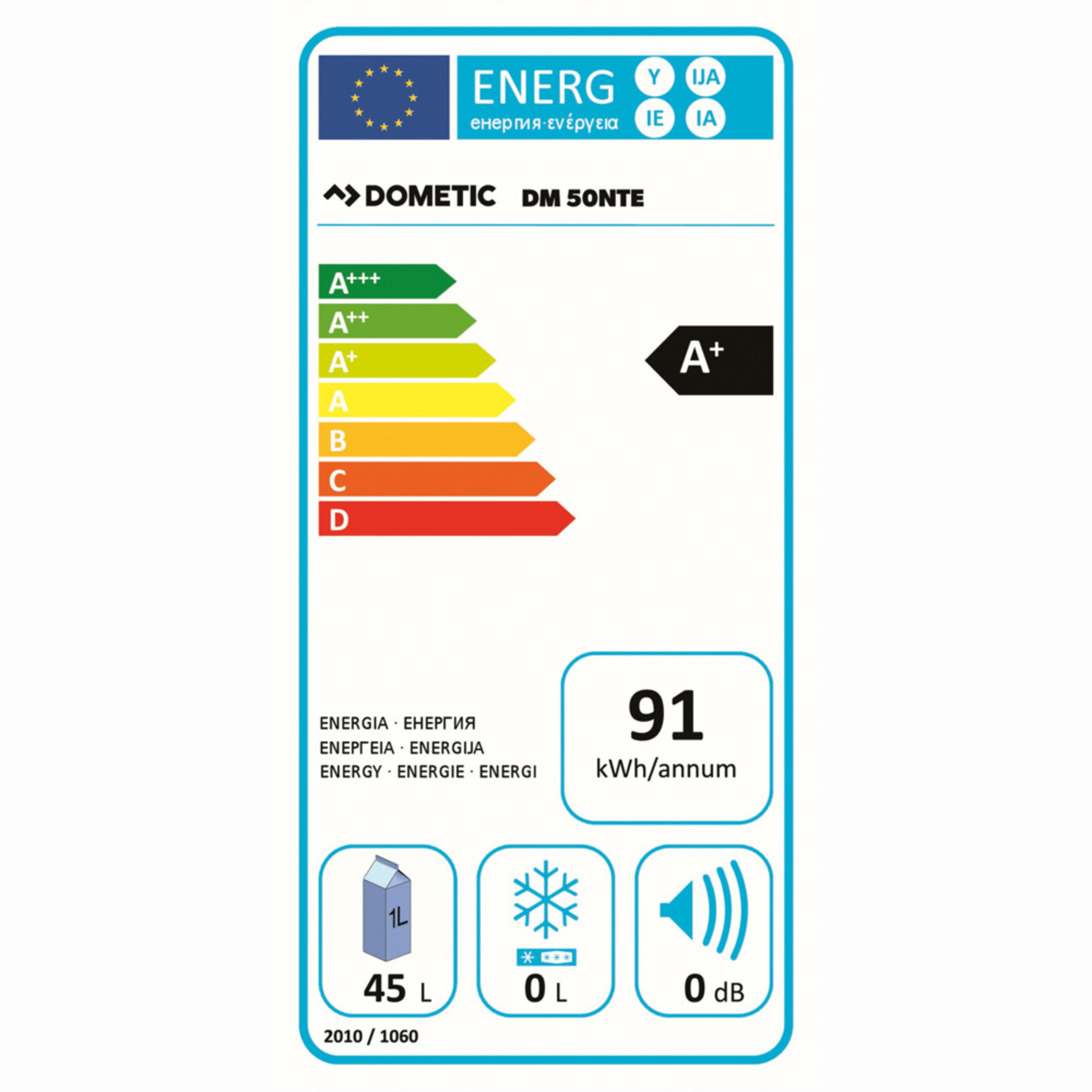 Dometic DM 50NTE D Energy label