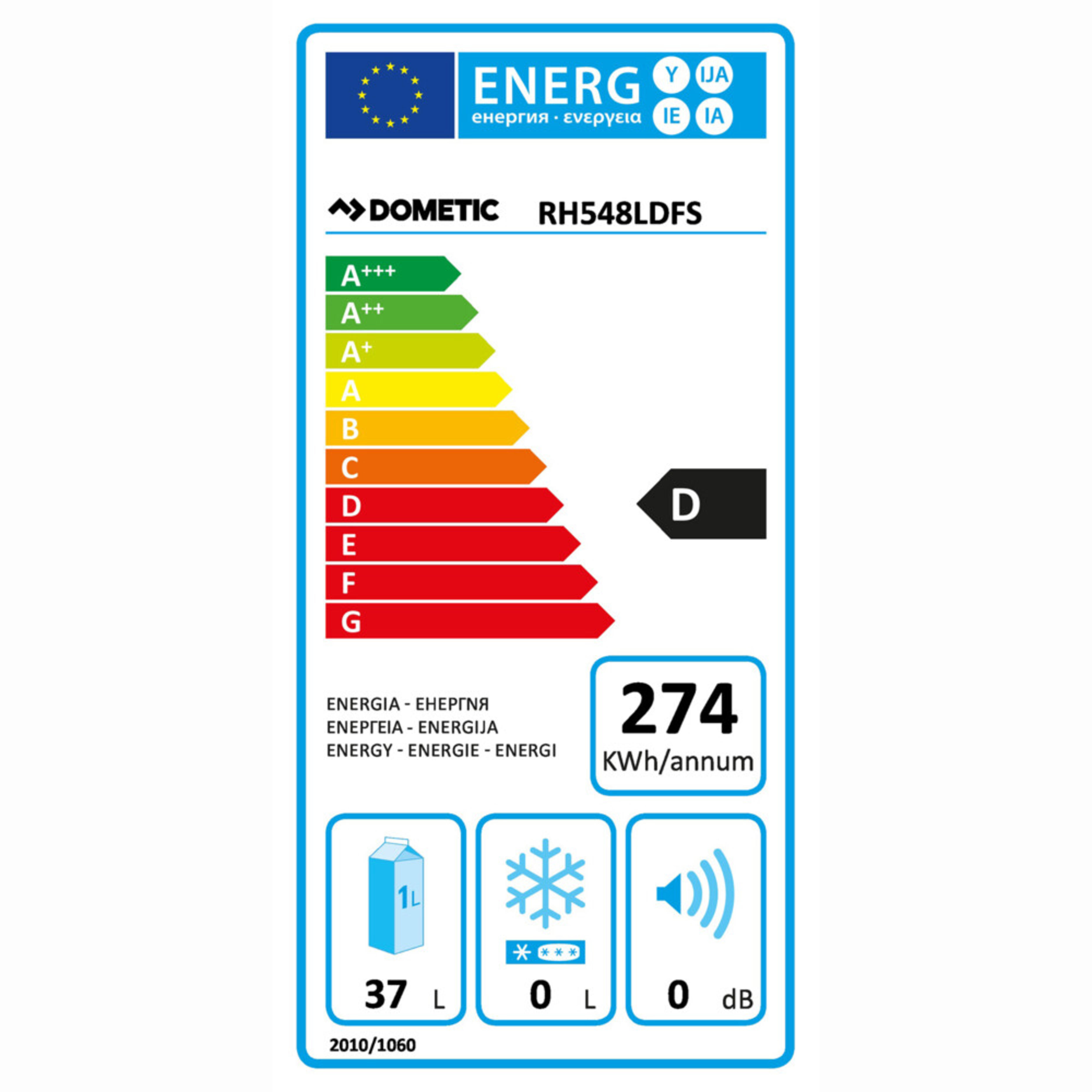 Dometic RH 548 LDFS Energy label