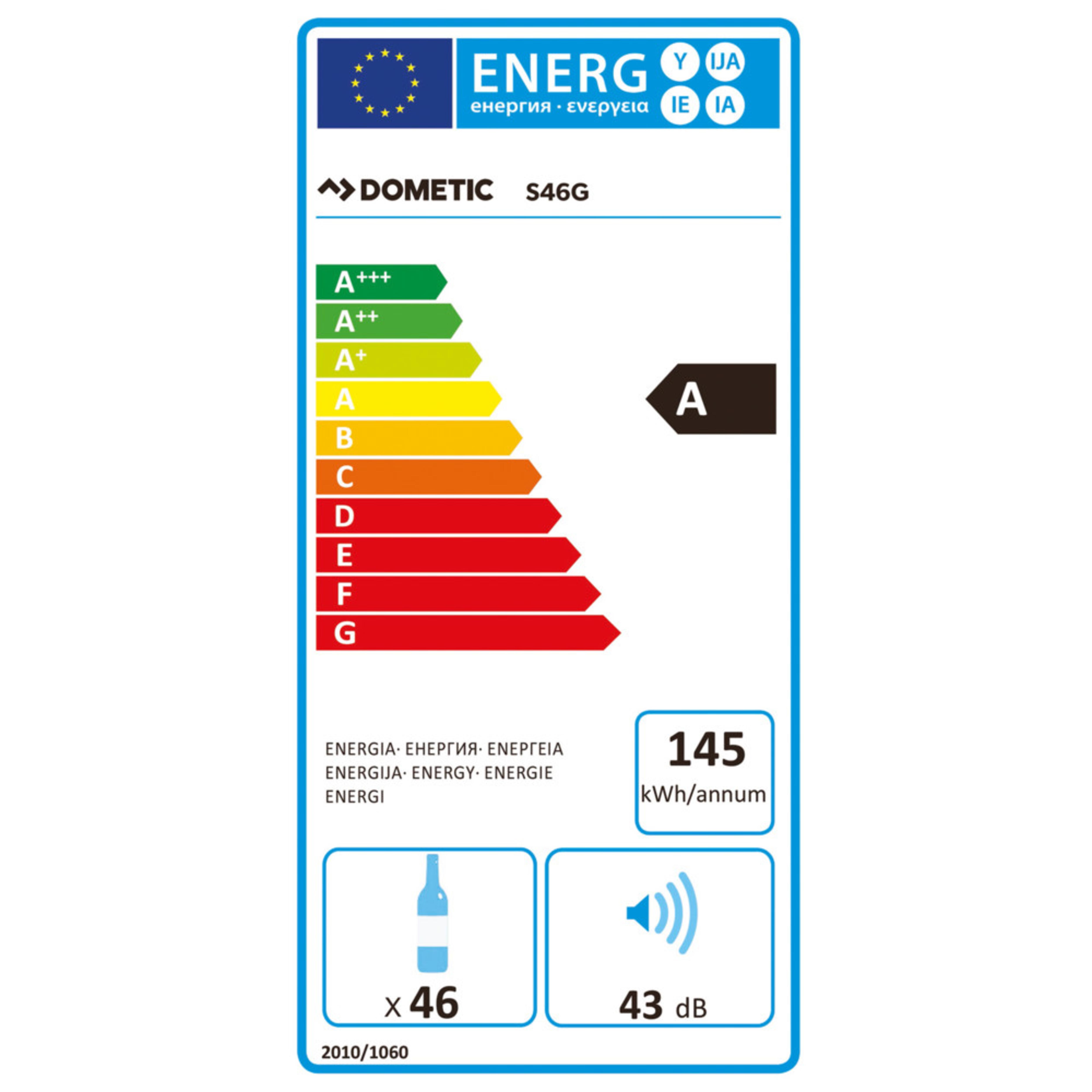 Dometic MaCave S46G Energielabel
