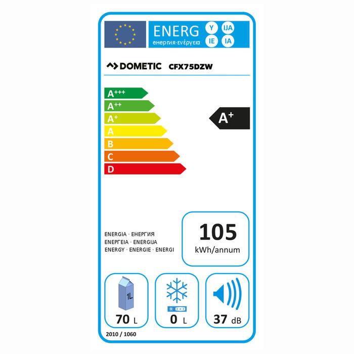 Dometic CoolFreeze CFX 75DZW Energielabel