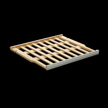 Wooden sliding shelves