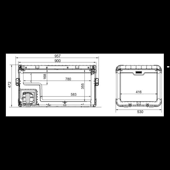 CFX 100 Dimensions