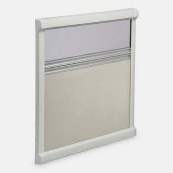 Dometic DB1R - Darkening roller blind with fly screen, cream white, 410 x 480 mm