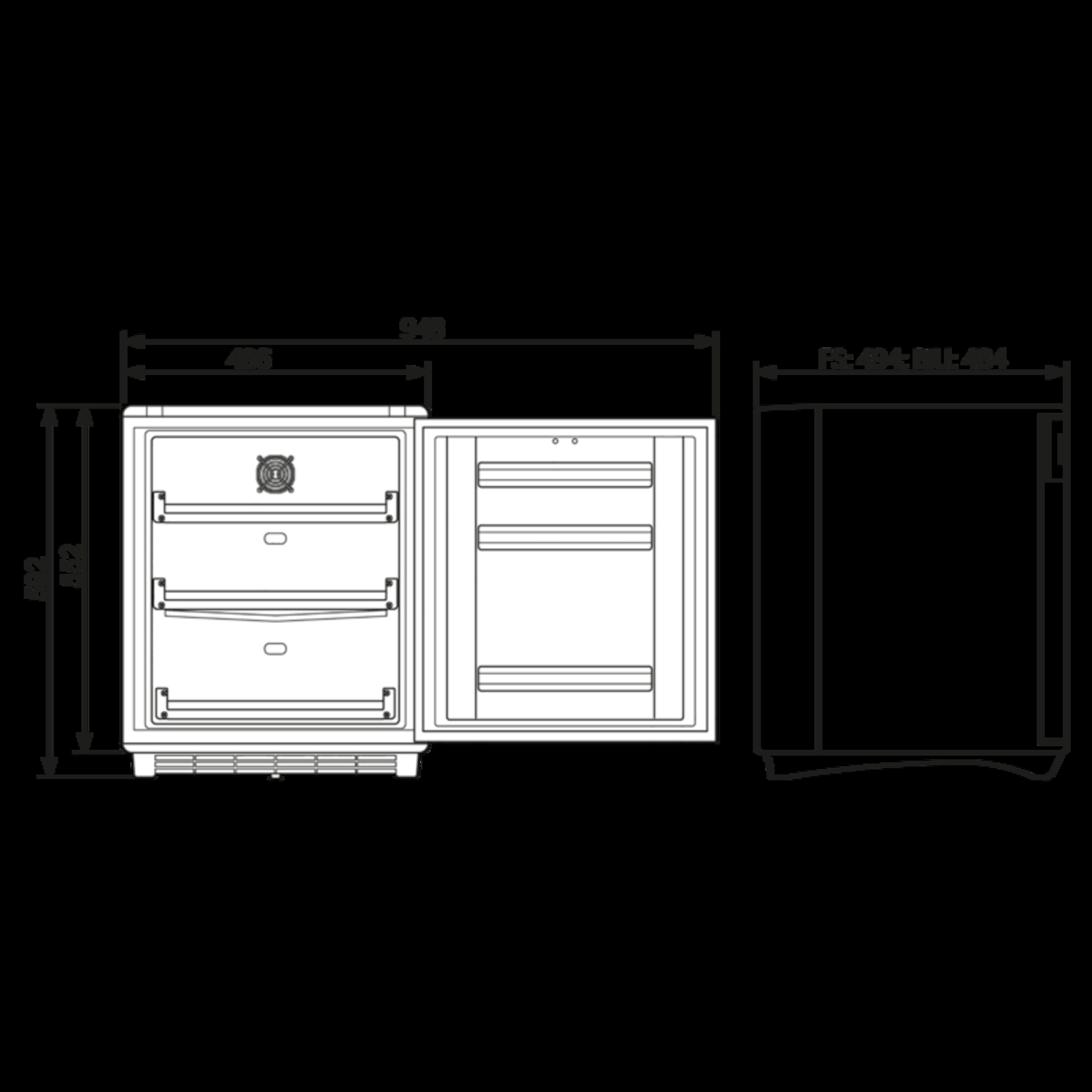 HC502D Dimensions