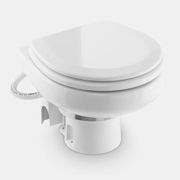 Dometic MasterFlush MF 7260 - Low-profile electric raw sea water macerator toilet, compact marine bowl