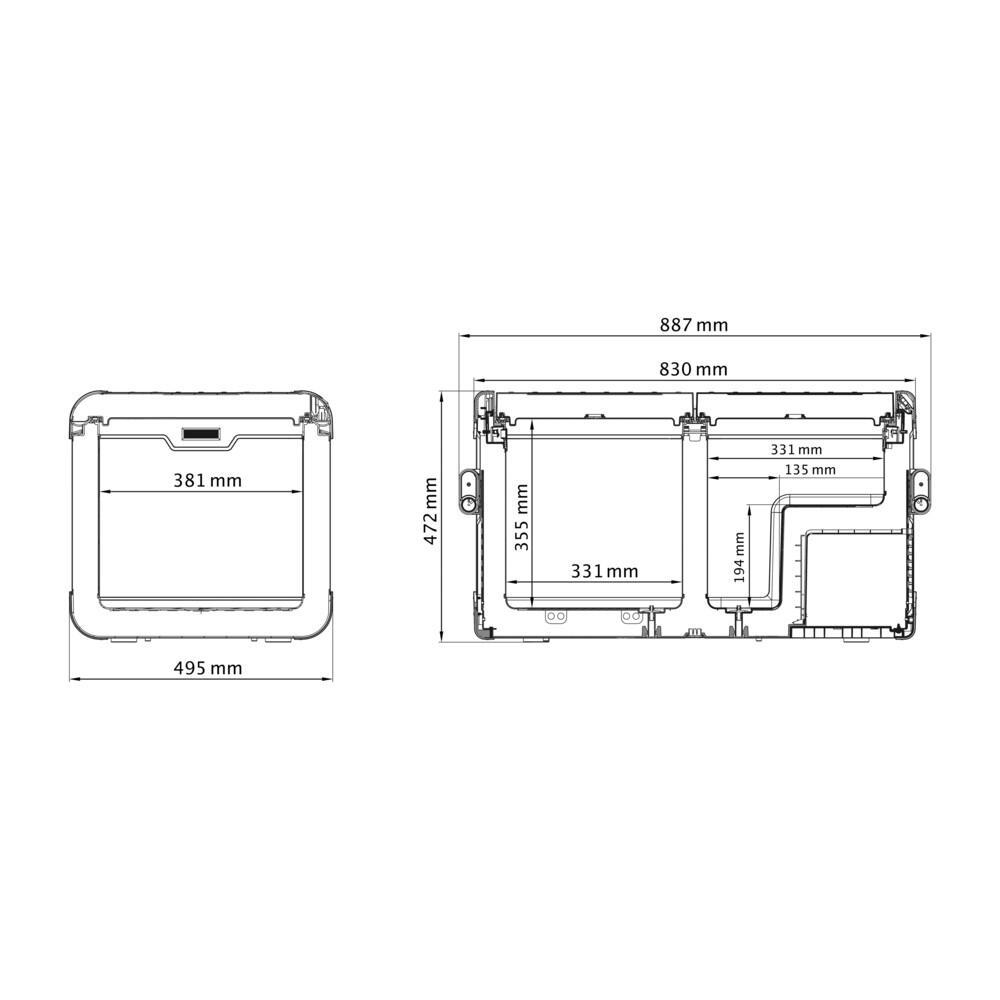 electrical wiring diagrams dometic waeco dometic waeco cfx 75dzw portable fridge freezer  113 cans  dometic waeco cfx 75dzw portable