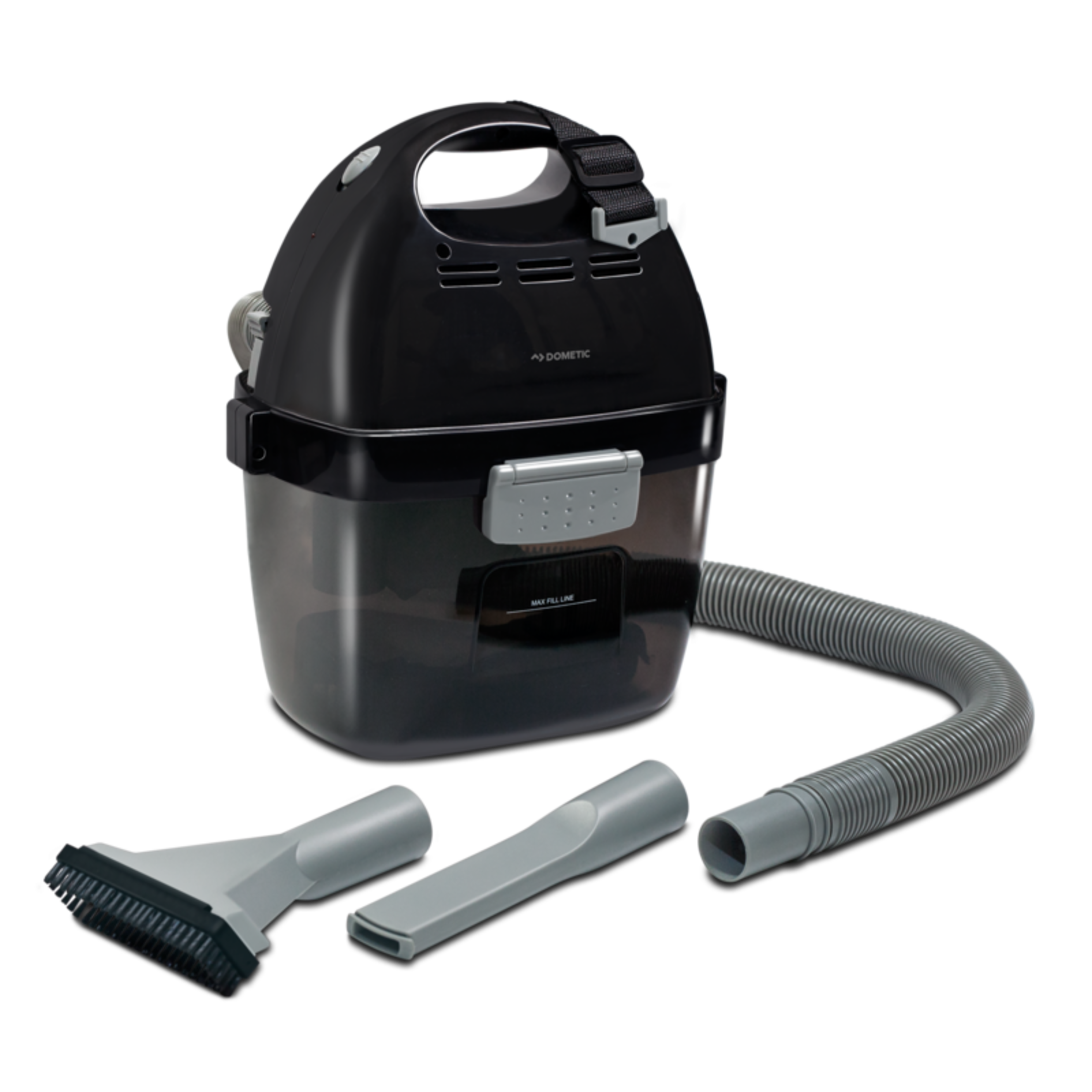 Battery-pwered wet- & dry vacuum cleaner