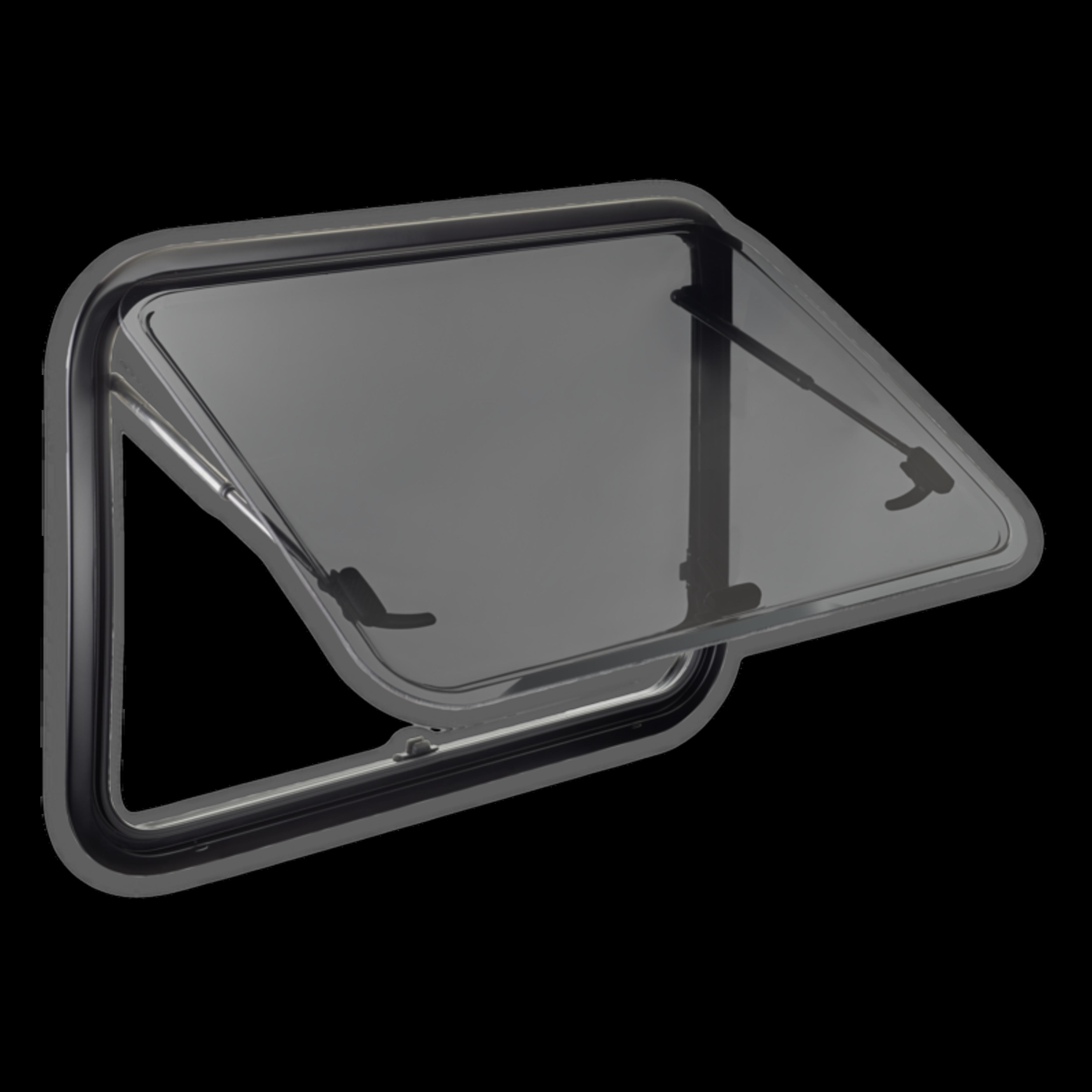 Knaus schwarz Wohnwagenfenster, Ersatzfenster Ausstellfenster