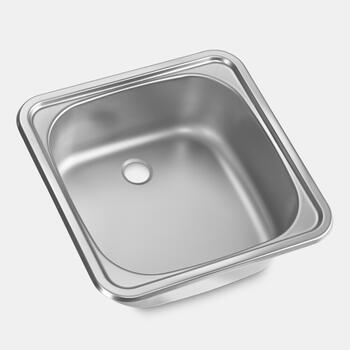 Dometic VA 932 - Square sink with drainer, 380 x 380 mm