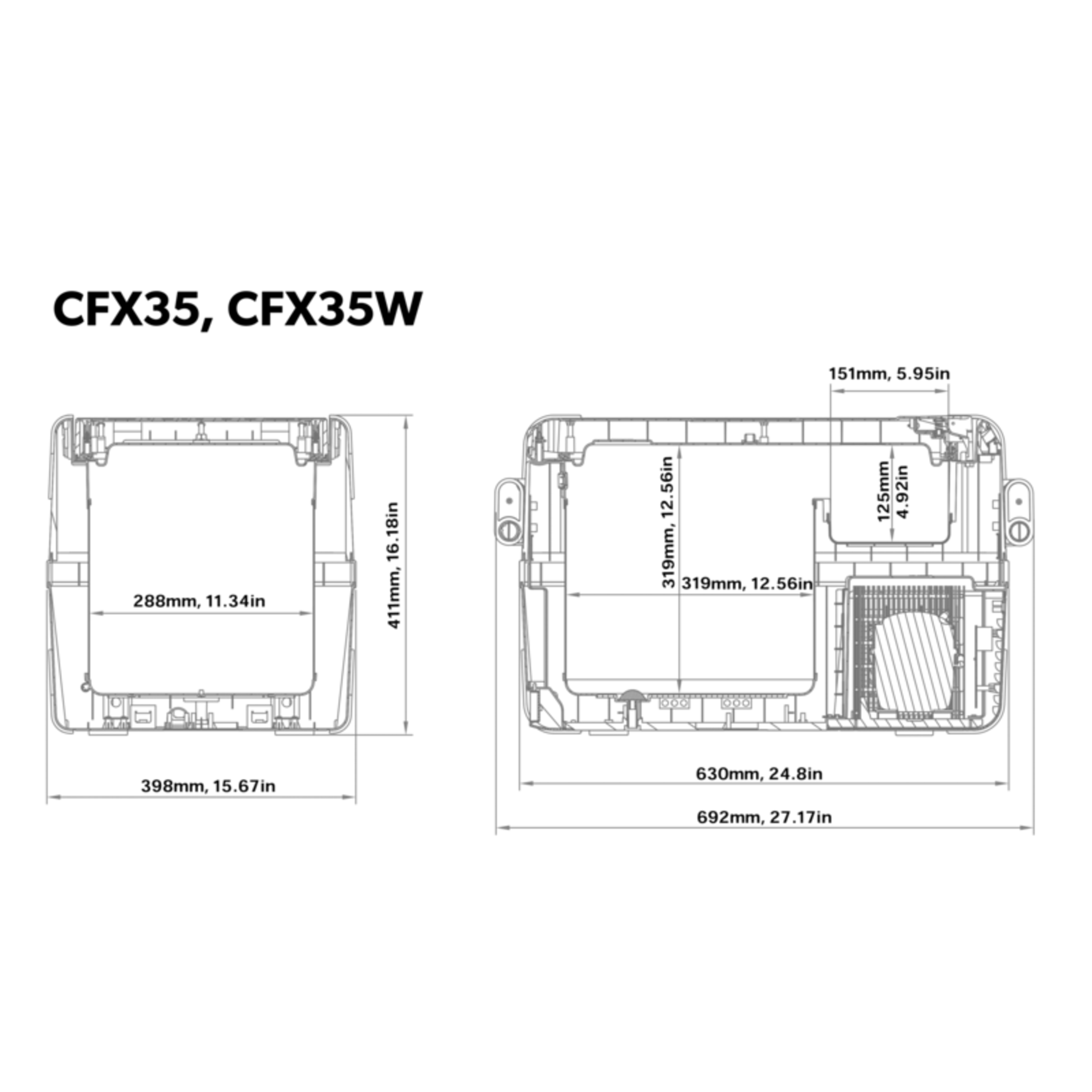 CFX 35W Dimensions