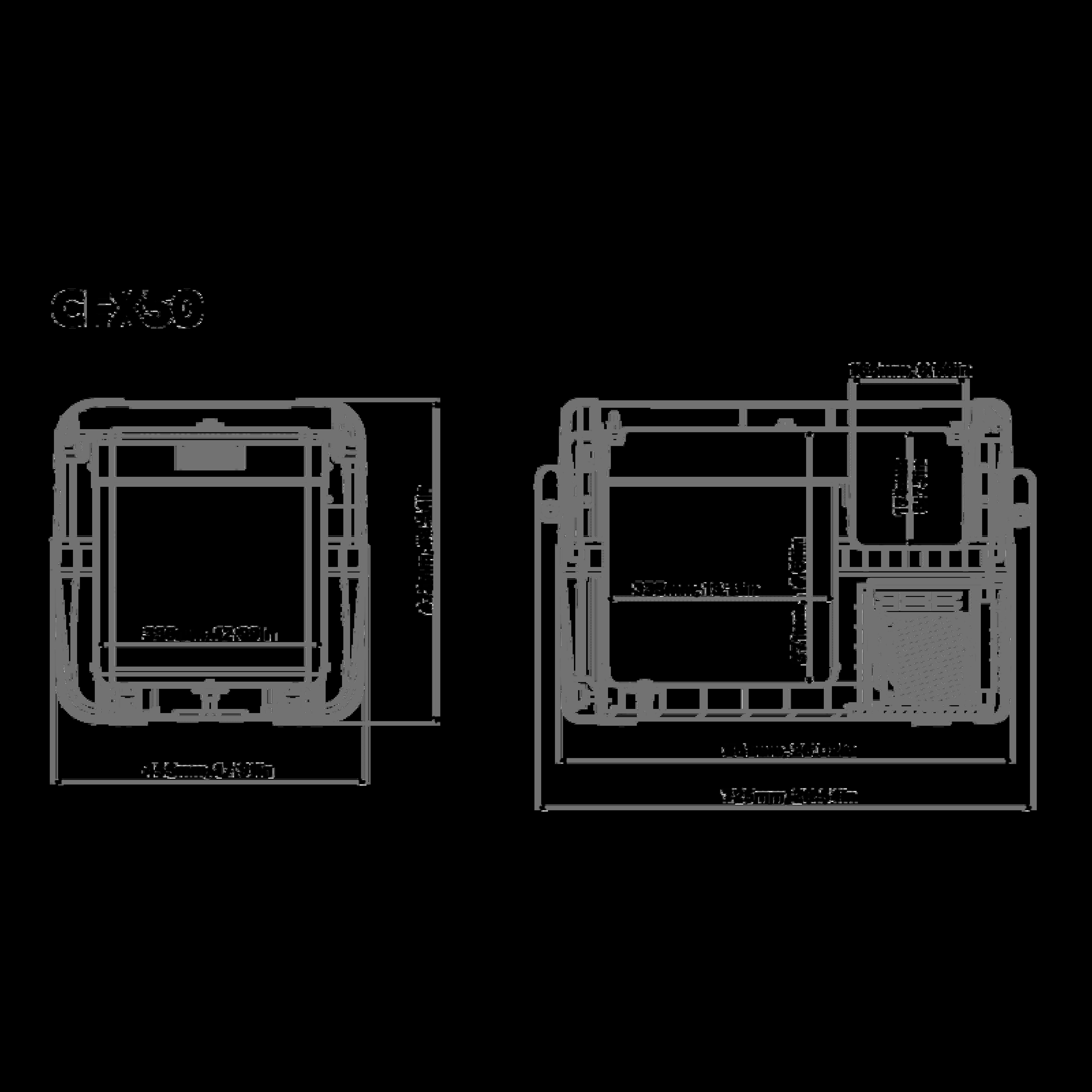 CFX 50W Dimensions