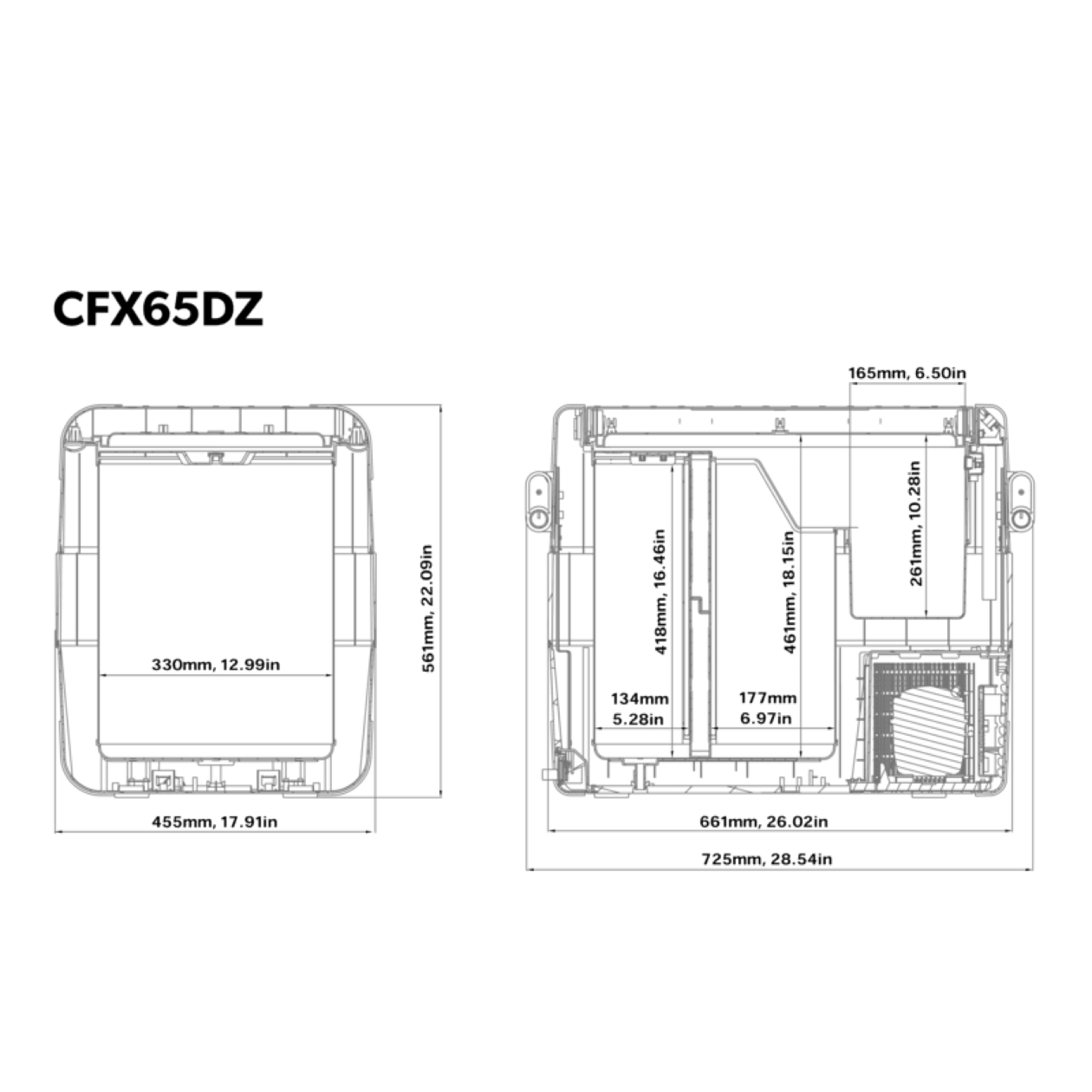 CFX 65DZ Dimensions
