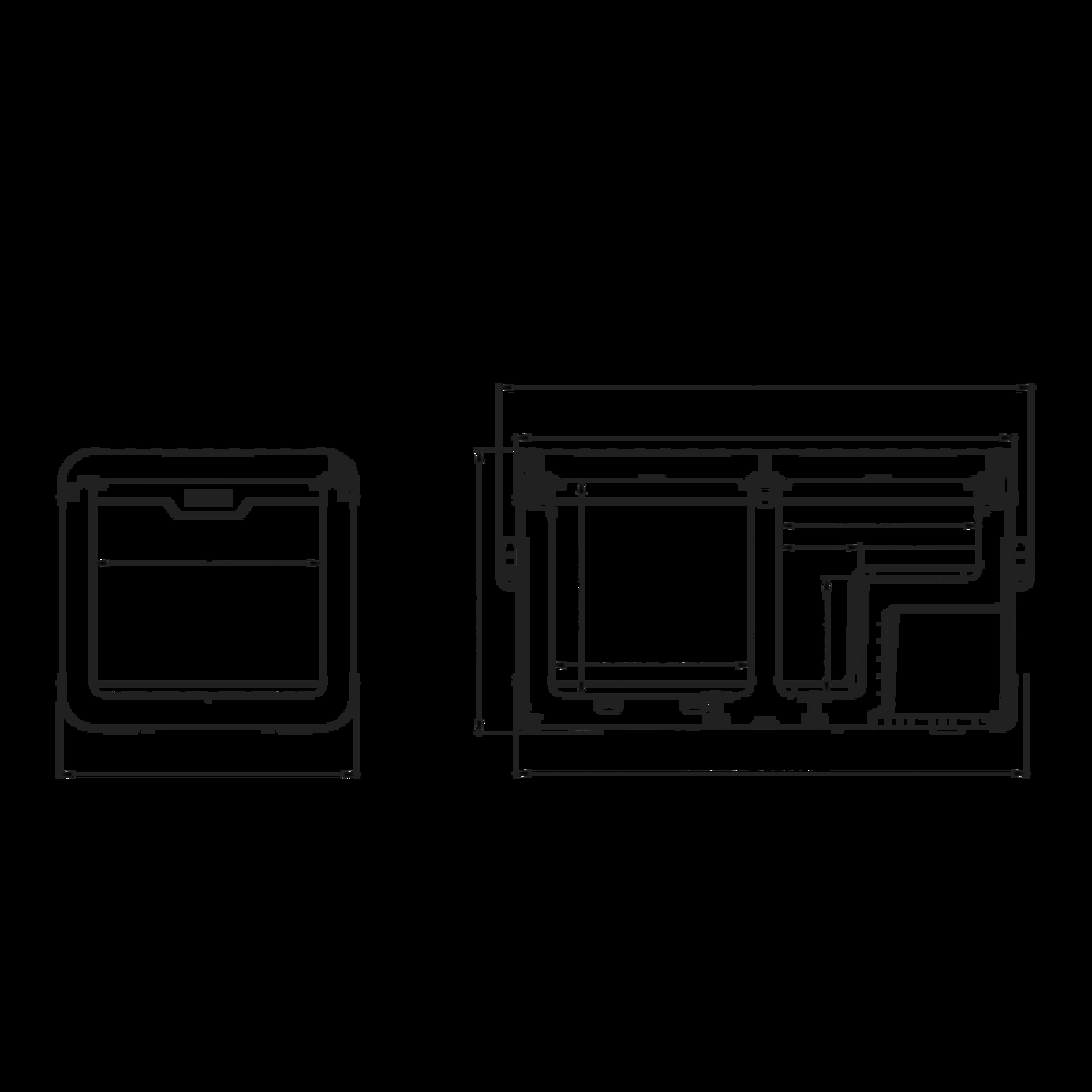 CFX 75DZW Dimensions