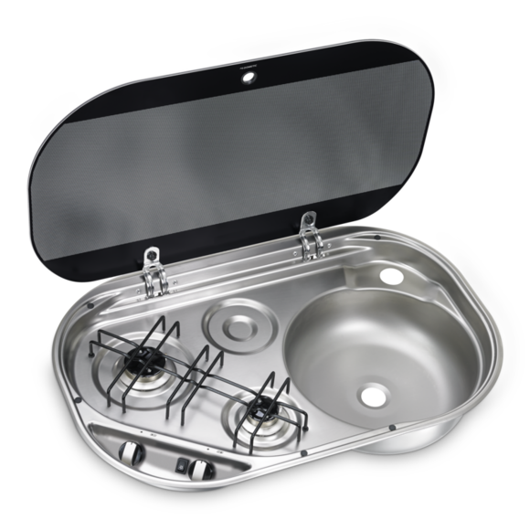 Dometic 2 Burner Stove Gas Hob And Sink