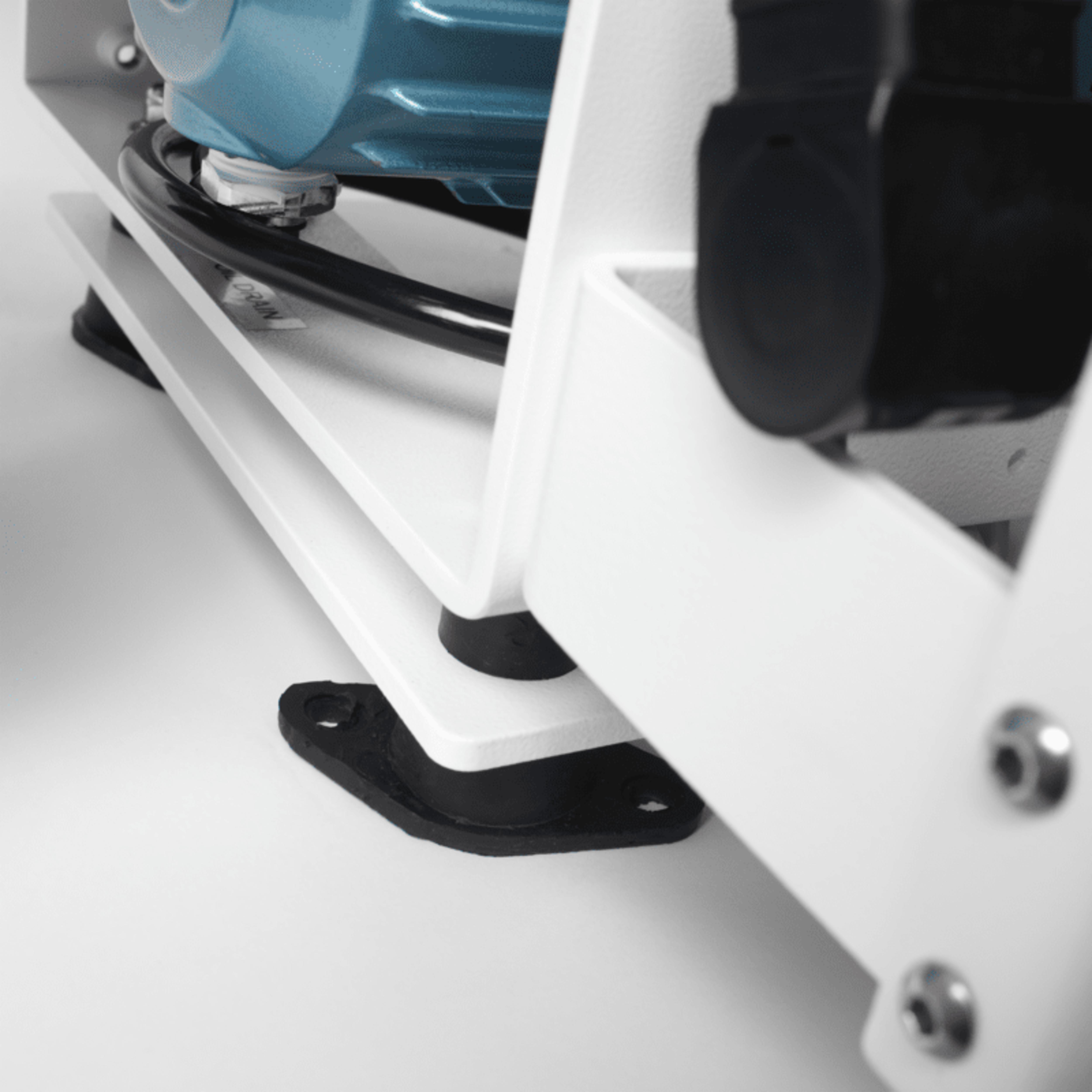 Vibration-isolation mounts reduce noise and vibration