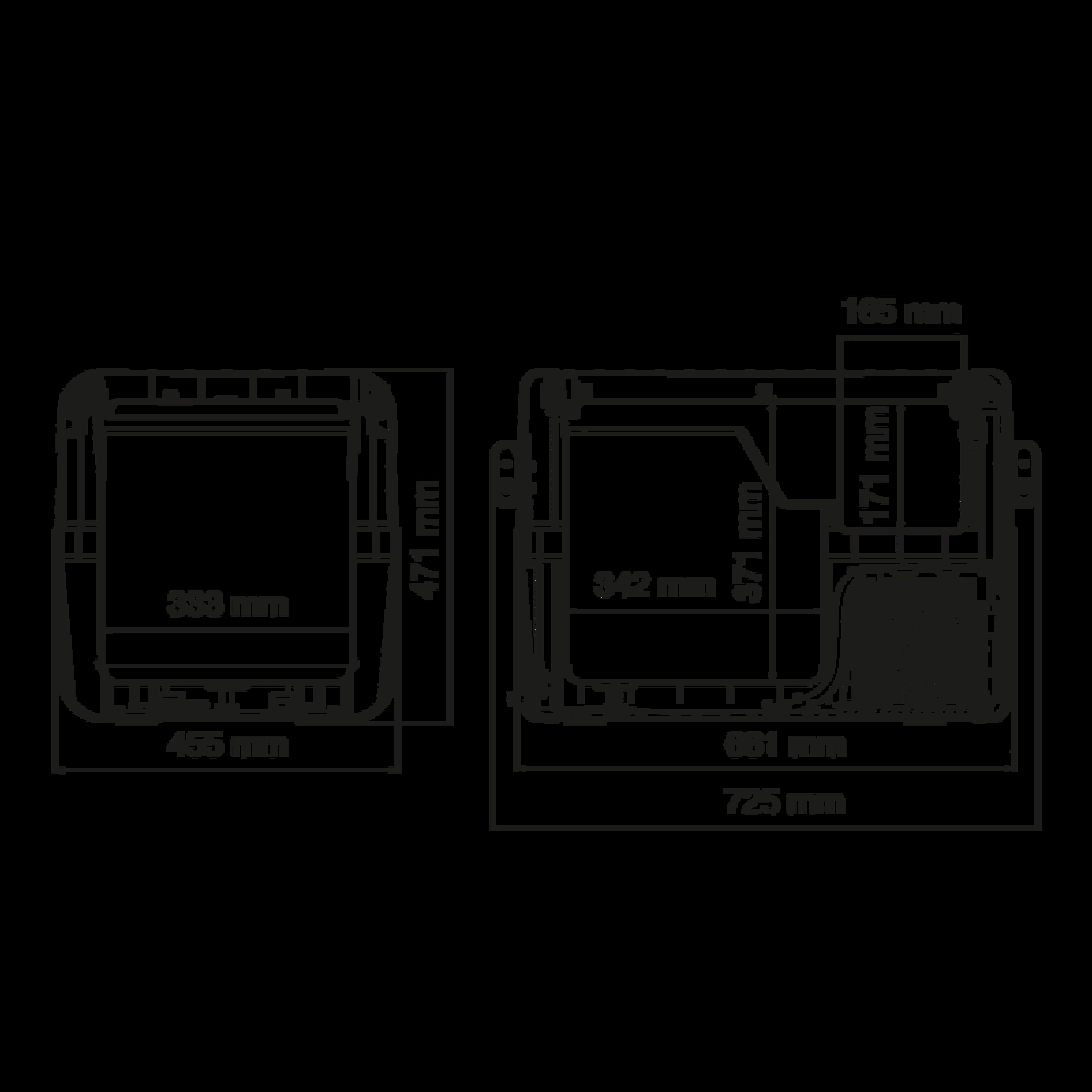 CFX 50 Dimensions