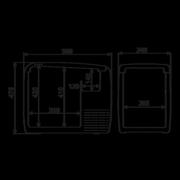 CDF 46 Dimensions
