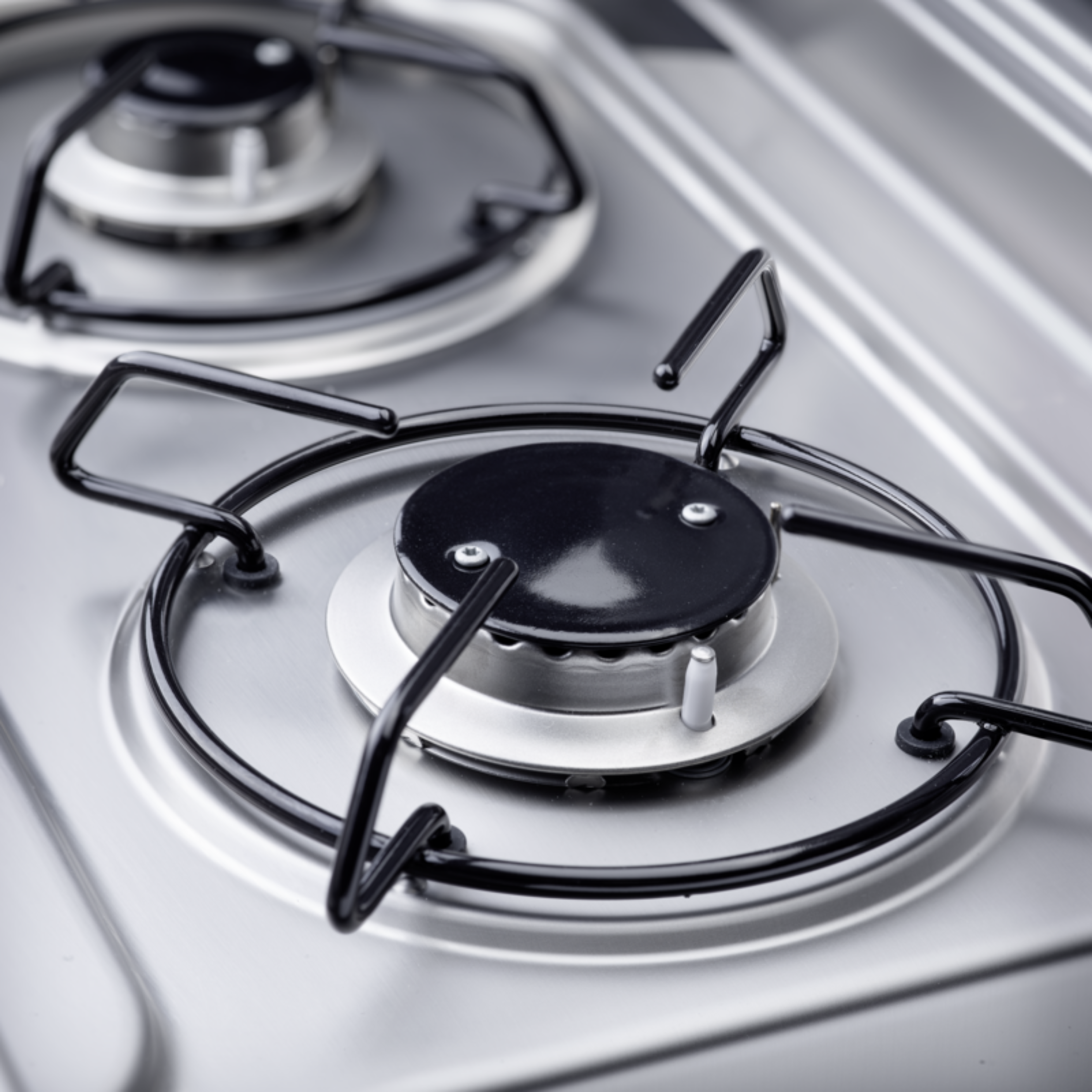 Two-burner hob ideal for cooking in small spaces