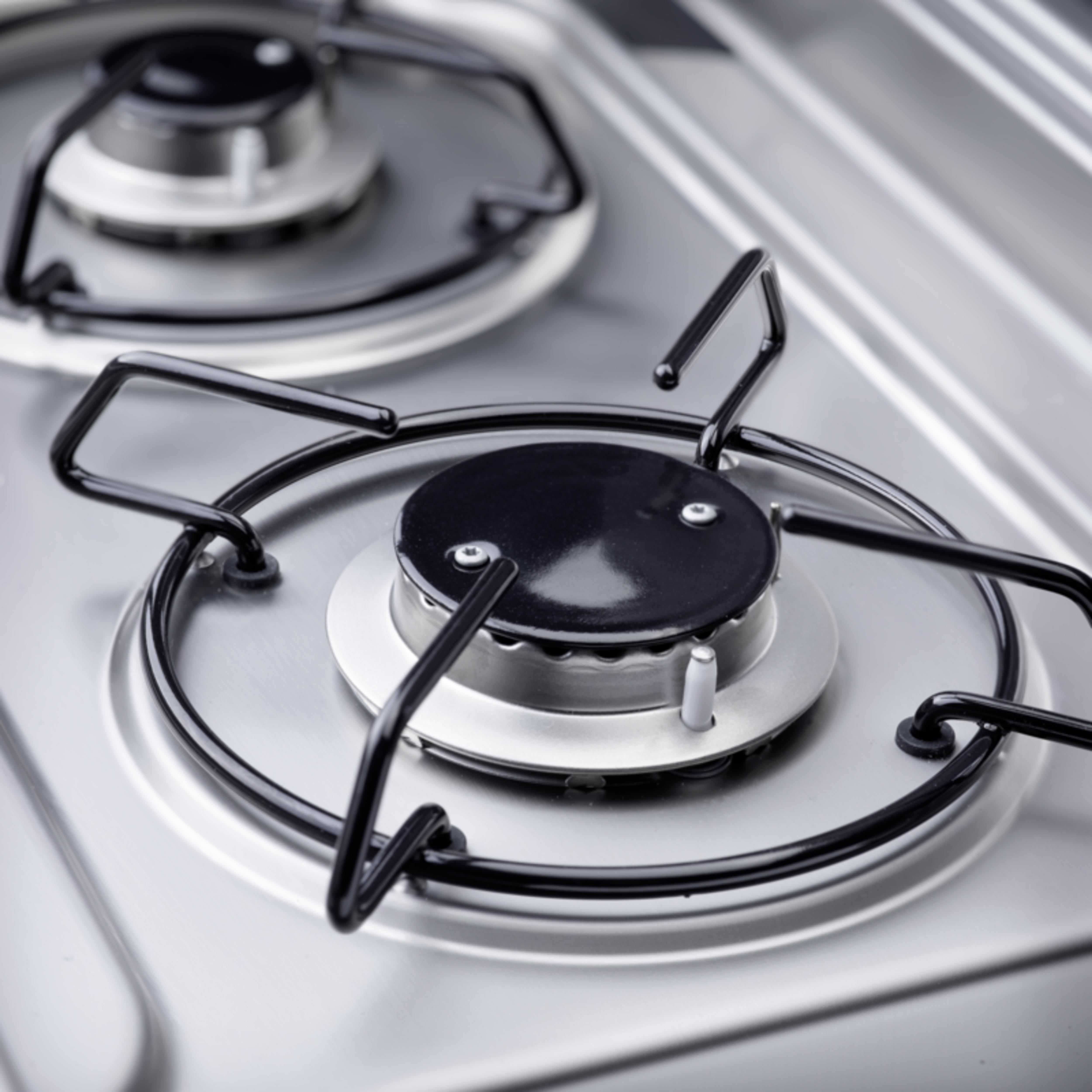 Kookplaat met twee pitten, ideaal voor koken in kleine ruimtes