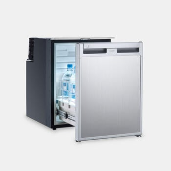 Dometic CoolMatic CRD 50 - Pull-out compressor refrigerator in stainless steel look, 38.5 l
