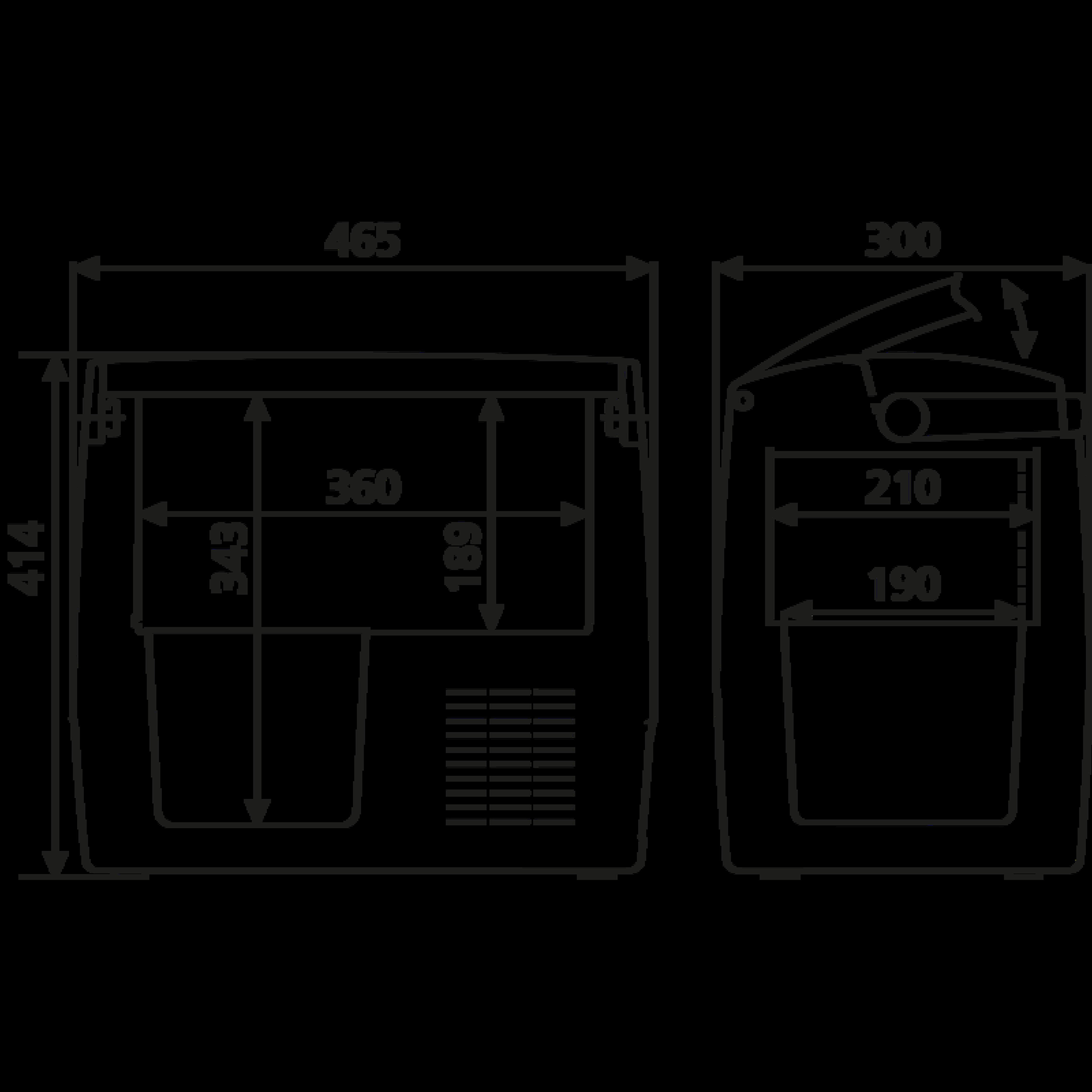 CDF 18 Dimension Drawing