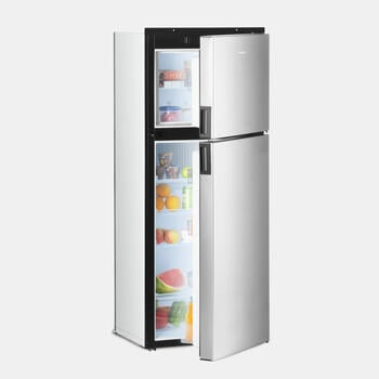 Dometic DMA 4087 - Absorption Refrigerator, 8-cubic-foot, right-hinged refrigerator with premium controls, dual crispers and fan
