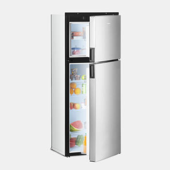 Dometic DMA 4087 - Absorption Refrigerator, 8-cubic-foot, right-hinged refrigerator with premium controls, ice maker, dual crispers and fan
